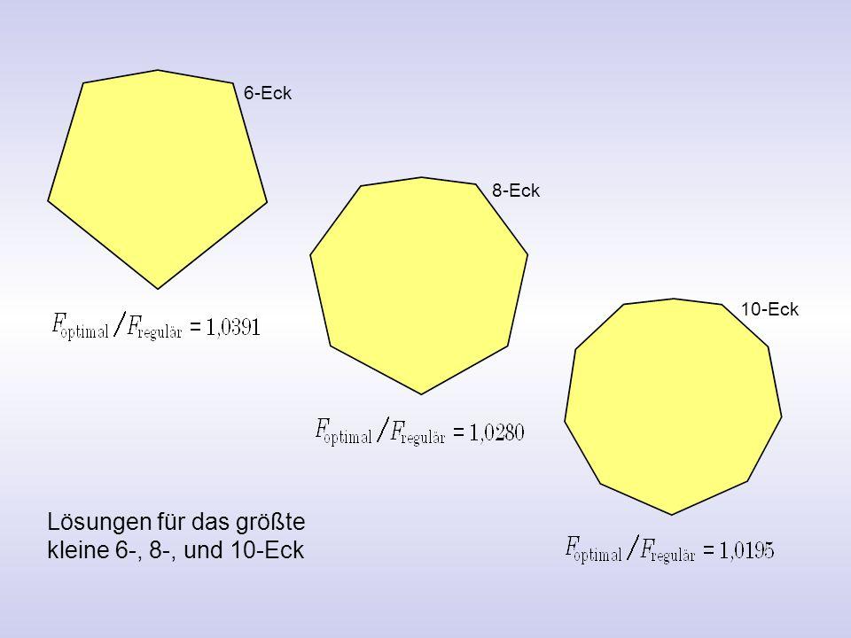 6-Eck 8-Eck 10-Eck Lösungen für das größte kleine 6-, 8-, und 10-Eck