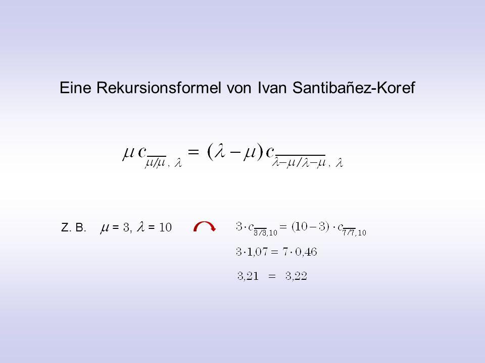 Ein faszinierender mathematische Zusammenhang zwischen der und der