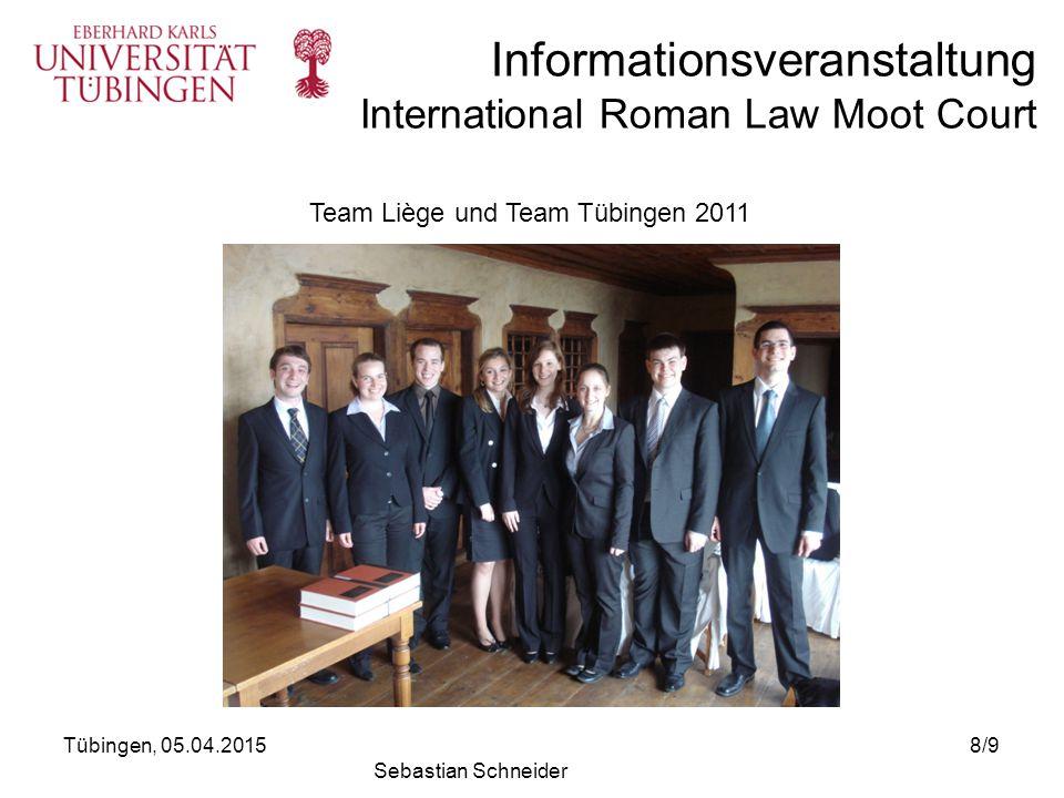 Informationsveranstaltung International Roman Law Moot Court Interesse.
