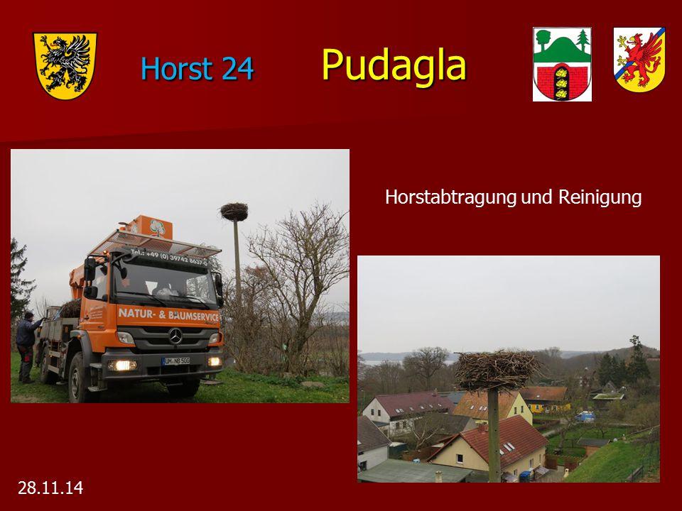 Horst 24 Pudagla Horstabtragung und Reinigung 28.11.14