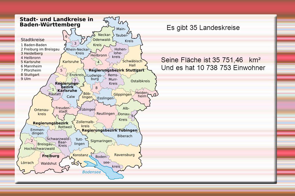 Es gibt 35 Landeskreise Seine Fläche ist 35 751,46 km² Und es hat 10 738 753 Einwohner