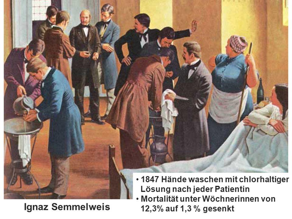 www.aktion-sauberehaende.de | ASH 2008 - 2016 Keine Chance den Krankenhausinfektionen Aktion Saubere Hände 1847 Hände waschen mit chlorhaltiger Lösung