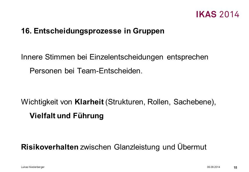 05.09.2014Lukas Niederberger 18 16.