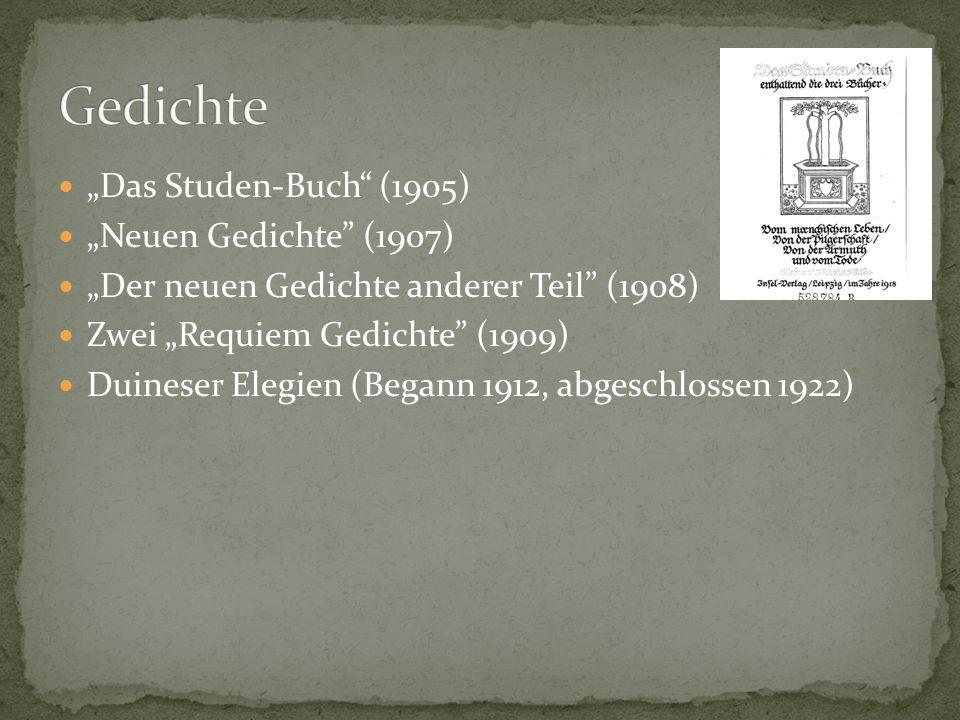Leben in München (1912) Affäre mit Malerin Lou Albert-Lasard in Wein (1914-1916) Rilke einzeihen und in Juni entlassen (1916)