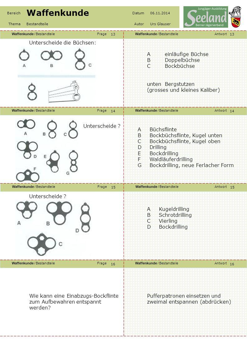 Waffenkunde / BestandteileFrageWaffenkunde / BestandteileAntwort Waffenkunde / BestandteileFrageWaffenkunde / BestandteileAntwort Waffenkunde / Bestan