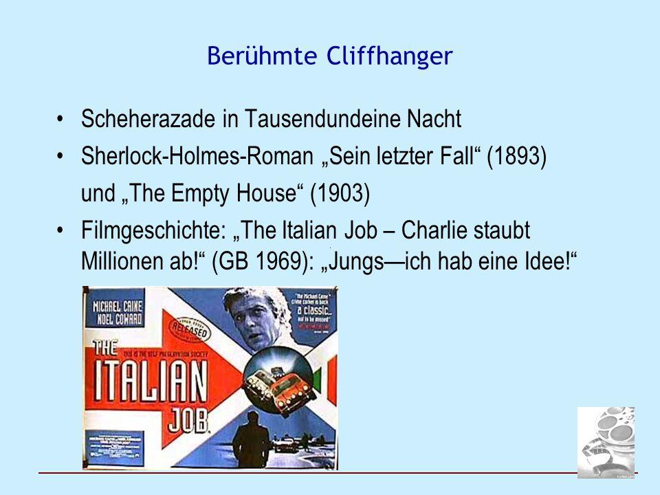"""Berühmte Cliffhanger Scheherazade in Tausendundeine Nacht Sherlock-Holmes-Roman """"Sein letzter Fall"""" (1893) und """"The Empty House"""" (1903) Filmgeschichte"""