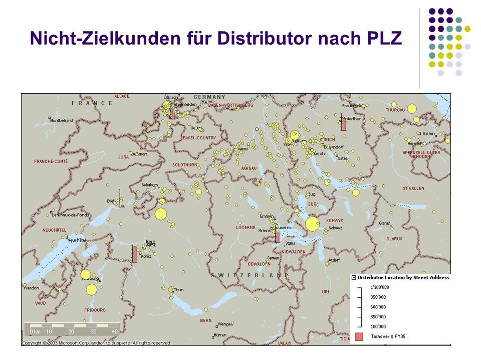 Nicht-Zielkunden für Distributor nach PLZ