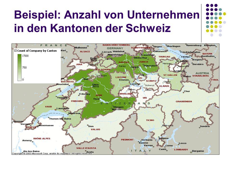 Beispiel: Anzahl von Unternehmen in den Kantonen der Schweiz