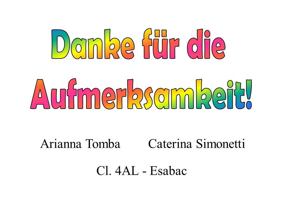 Arianna TombaCaterina Simonetti Cl. 4AL - Esabac