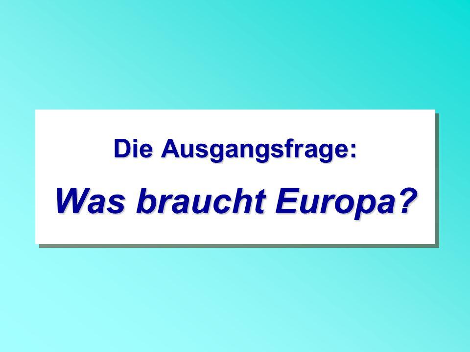 Die Ausgangsfrage: Was braucht Europa?