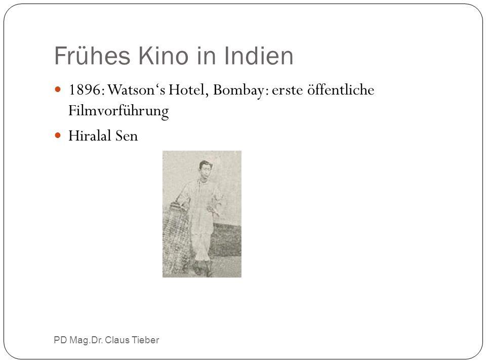 Frühes Kino in Indien PD Mag.Dr. Claus Tieber 1896: Watson's Hotel, Bombay: erste öffentliche Filmvorführung Hiralal Sen