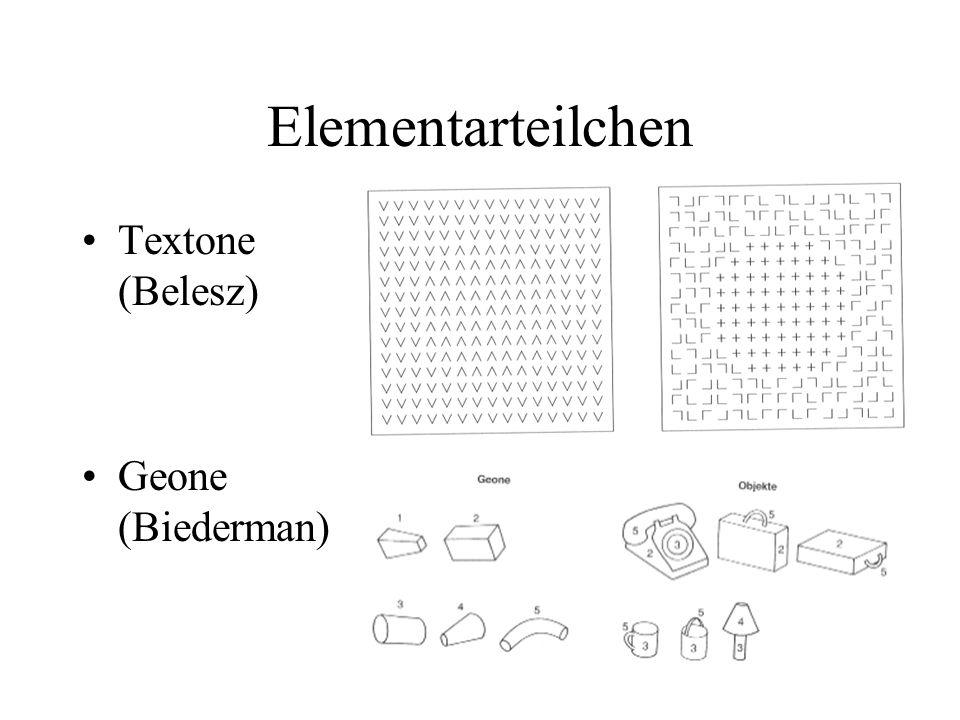 Elementarteilchen Textone (Belesz) Geone (Biederman)