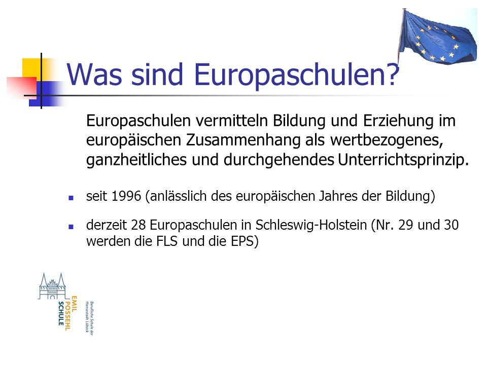 Was sind Europaschulen.