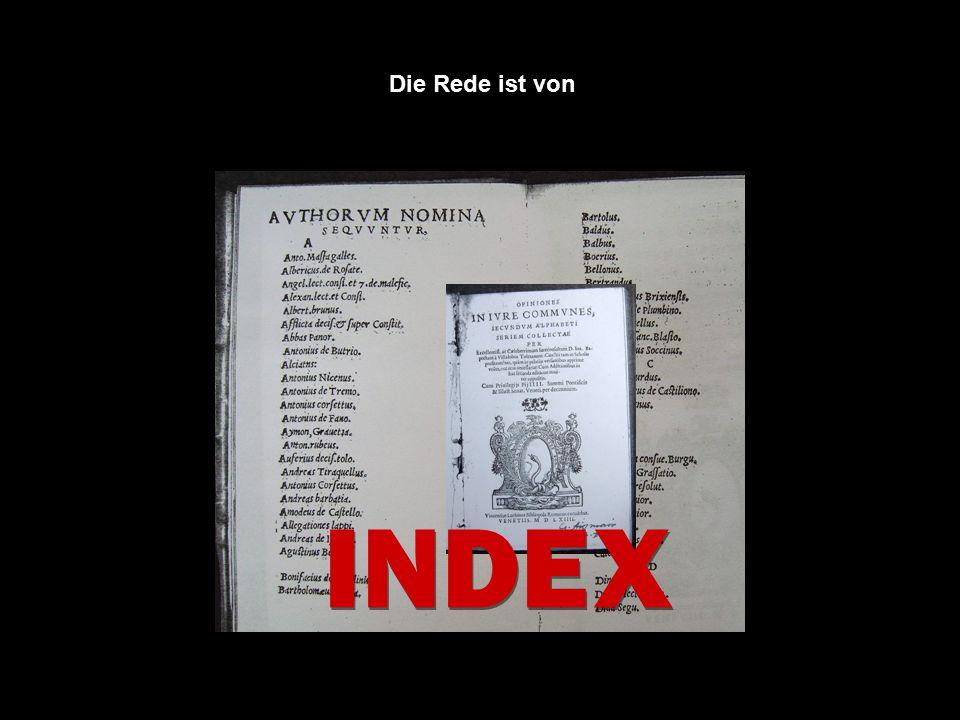 INDE X Die Rede ist von: Die Rede ist von