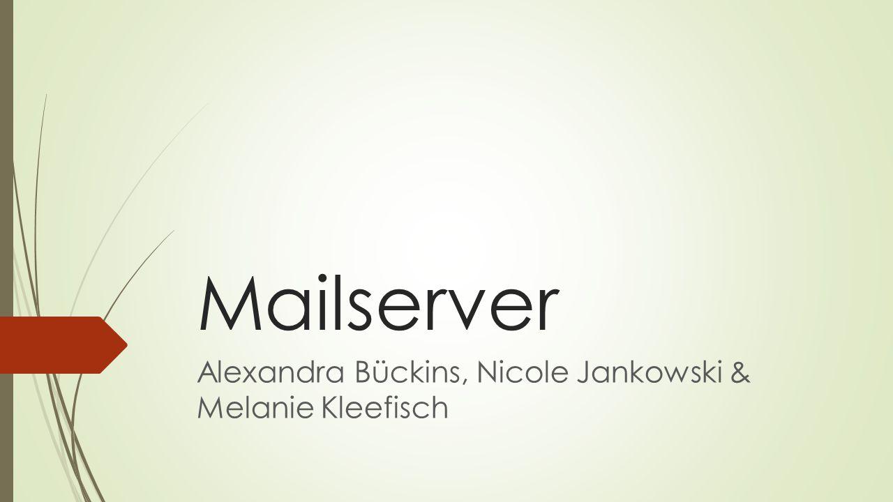 Mailserver  Mailserver können Emails entgegen- nehmen, weiterleiten, bereithalten oder senden  Dazu kommunizieren sie über verschiedene Protokolle (SMTP, POP, IMAP)