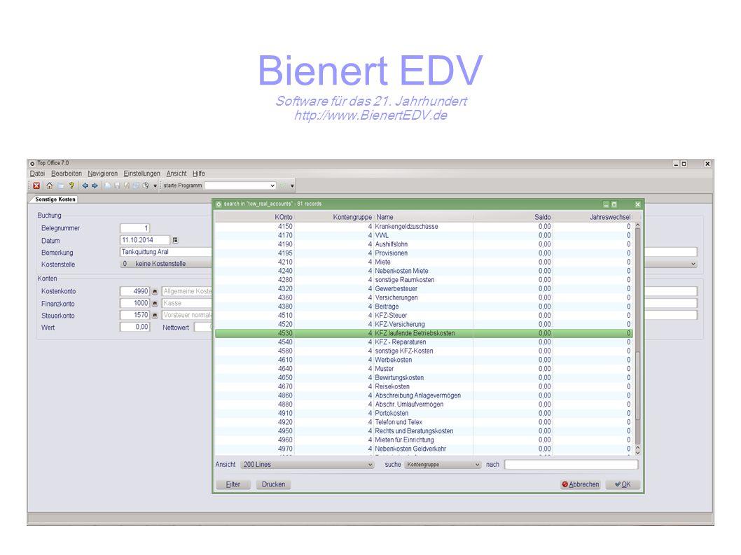 Bienert EDV Software für das 21. Jahrhundert http://www.BienertEDV.de