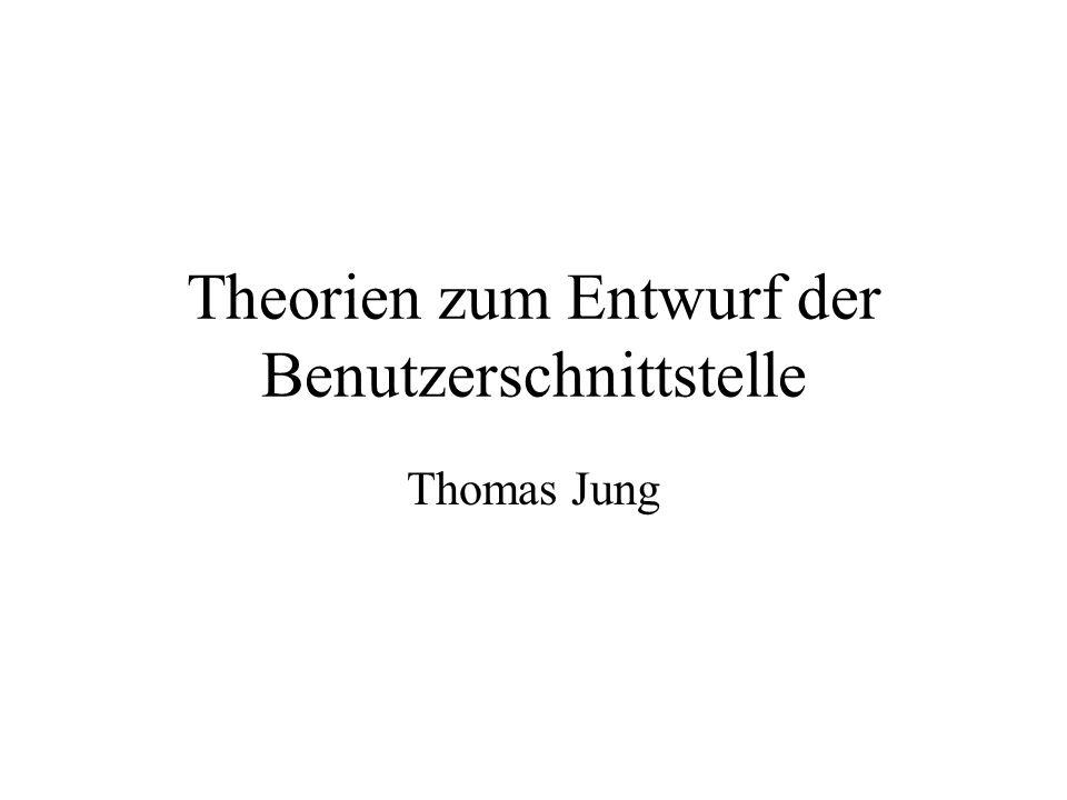 Theorien zum Entwurf der Benutzerschnittstelle Thomas Jung