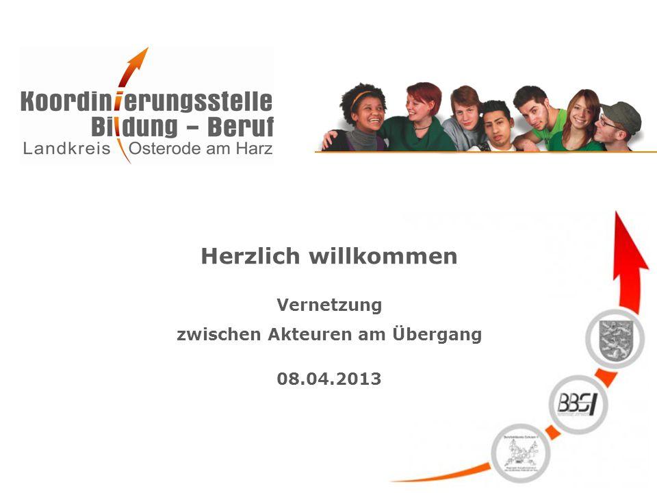 Herzlich willkommen Vernetzung zwischen Akteuren am Übergang 08.04.2013
