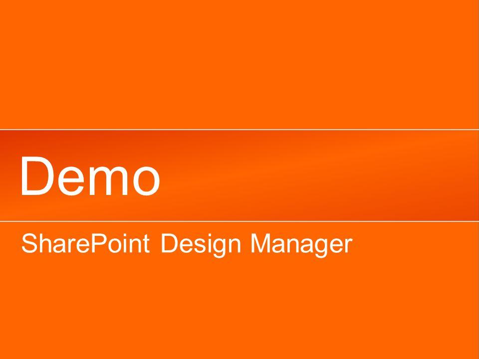 Demo SharePoint Design Manager