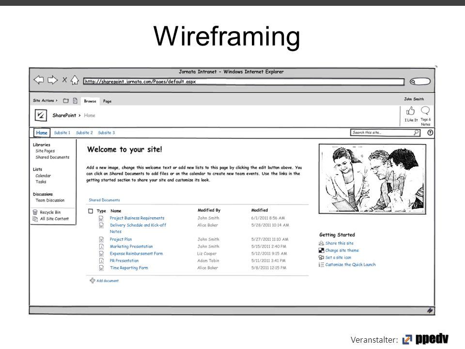 Veranstalter: Wireframing