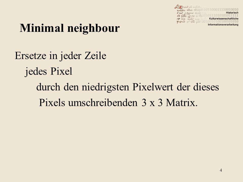 Minimal neighbour * 15