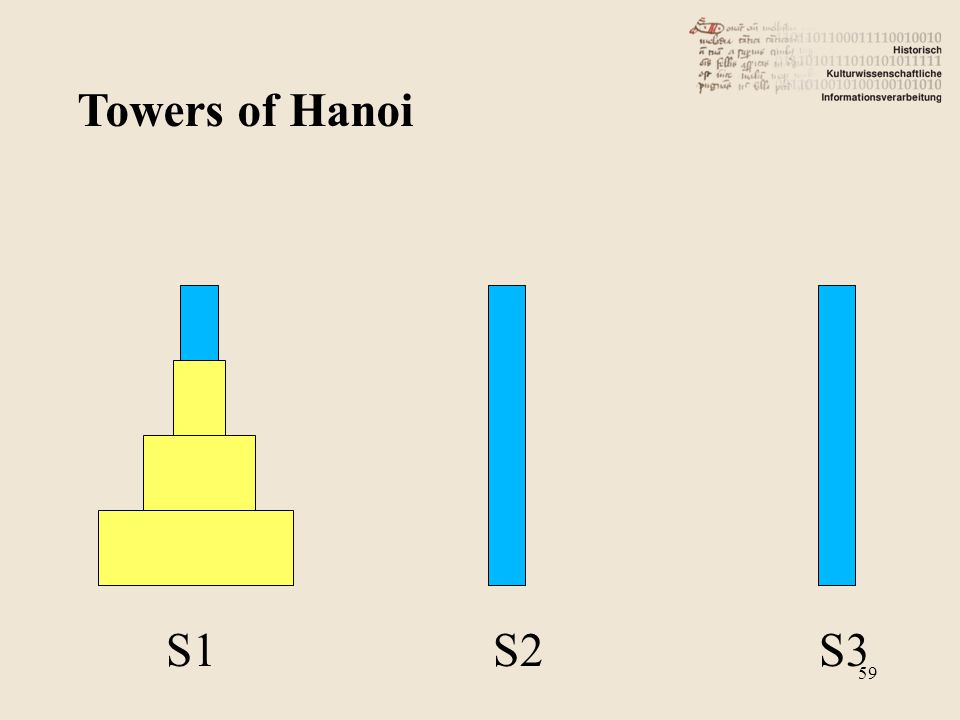Towers of Hanoi S1 S2 S3 59