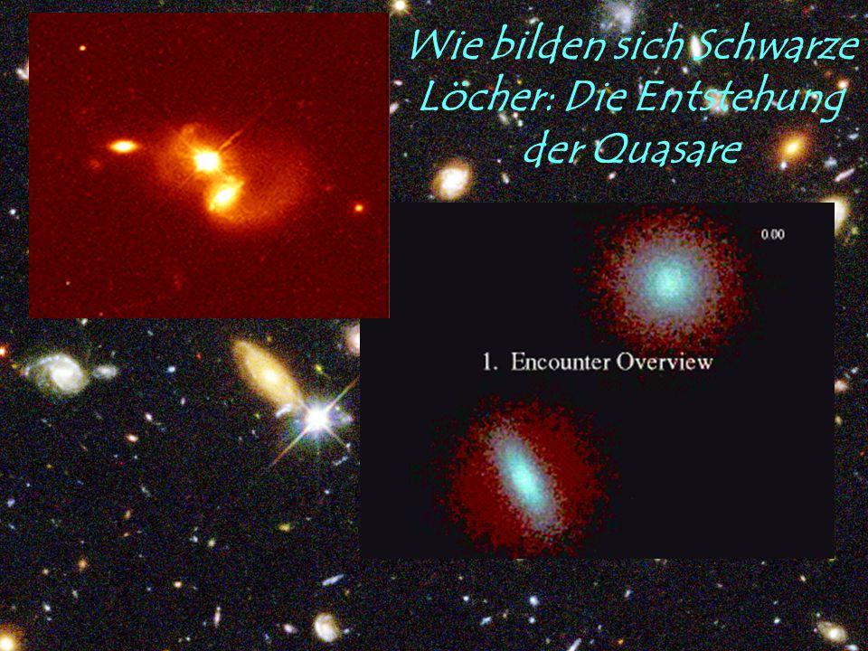 Wie bilden sich Schwarze Löcher: Die Entstehung der Quasare