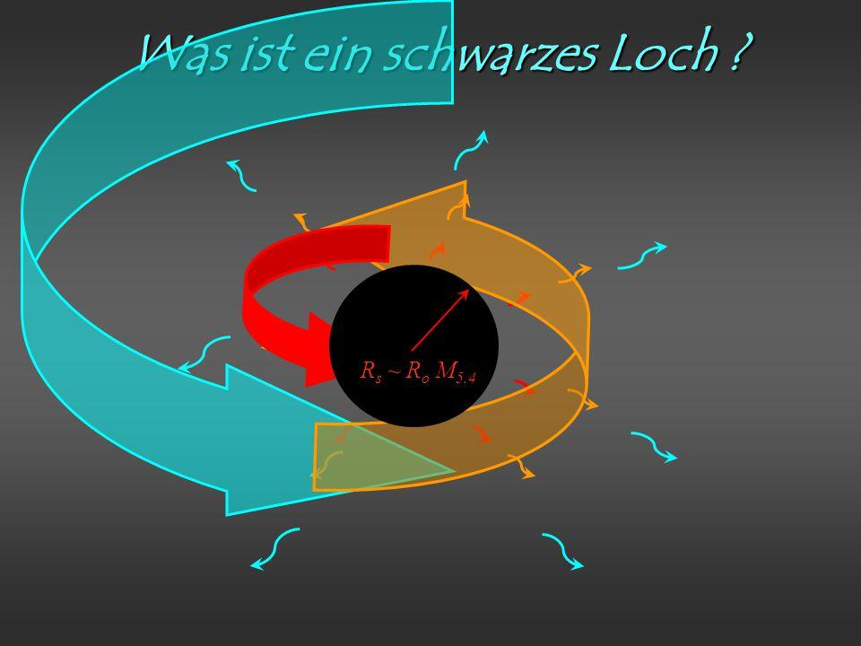 Was ist ein schwarzes Loch R s ~ R o M 5.4