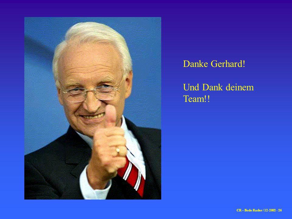 CR – Bodo Rasler / 12-2002 - 26 Danke Gerhard! Und Dank deinem Team!!