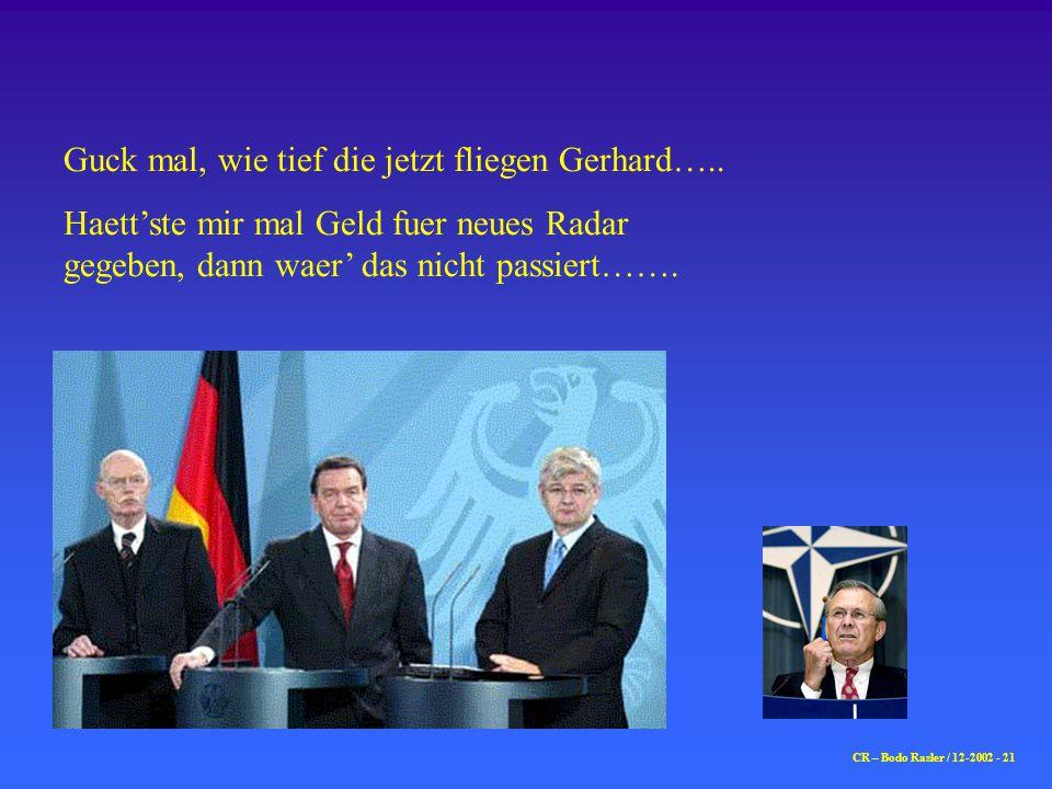 CR – Bodo Rasler / 12-2002 - 21 Guck mal, wie tief die jetzt fliegen Gerhard…..
