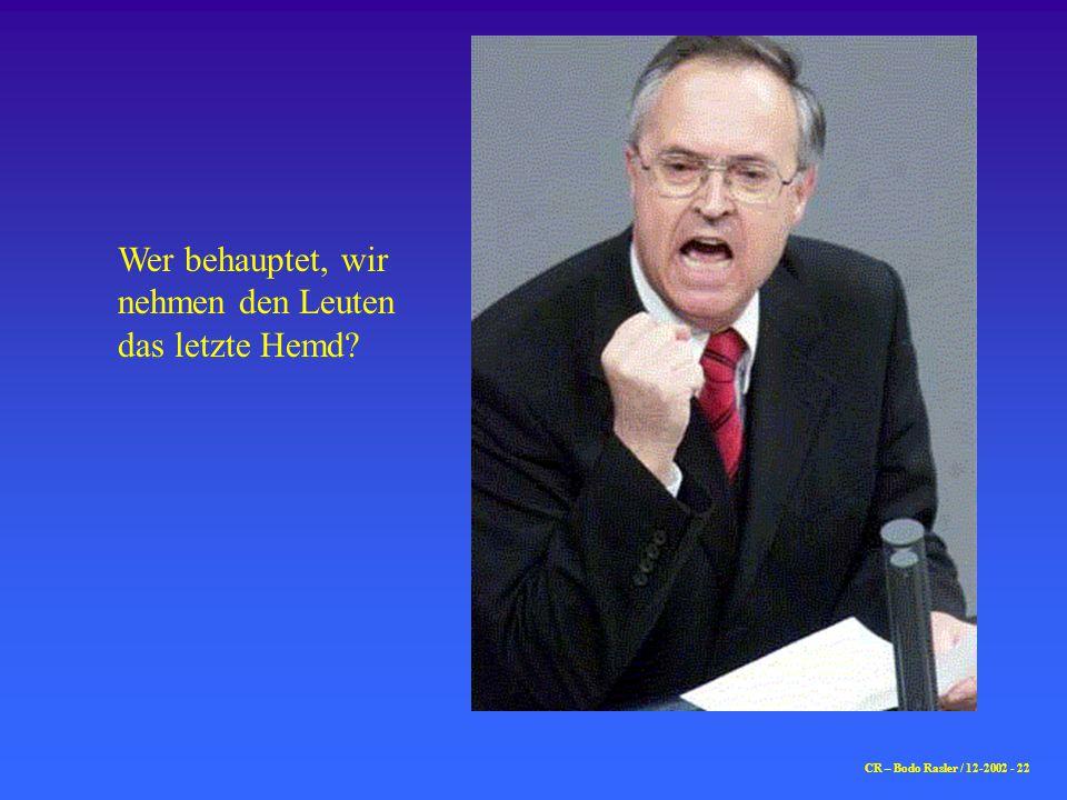 CR – Bodo Rasler / 12-2002 - 23 …der letzte Deutsche Unternehmer bei der Ausreise…….