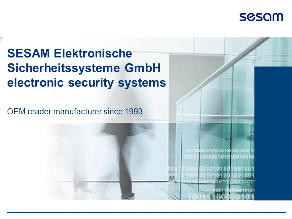 SESAM Elektronische Sicherheitssysteme GmbH electronic security systems OEM reader manufacturer since 1993