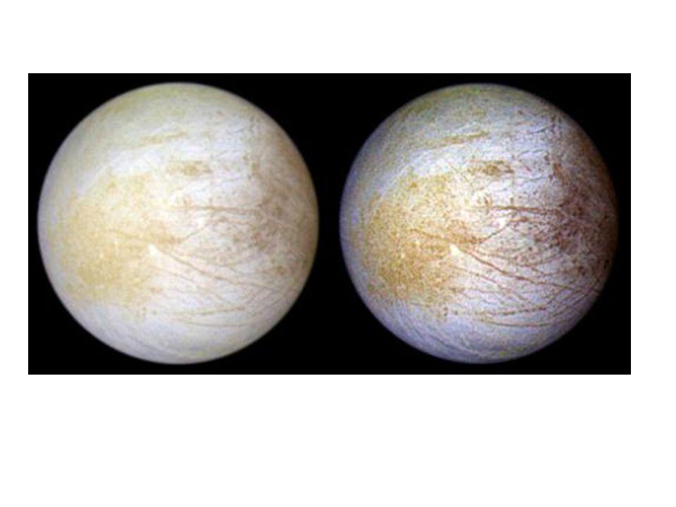 Galileo Mission 1989 gestartet, NASA 1995 Jupitersystem erreicht -89 bis 11-97: Galileo Mission -12-97 bis 01-00: Galileo Europa Mission -Seit 01-00: Galileo Millennium Mission 12 Vorbeiflüge an Europa: 3GM, 8GEM, 1GMM Geringste Distanz zu Europa: 200km Mission bis 2003 (Kollision mit Jupiter)