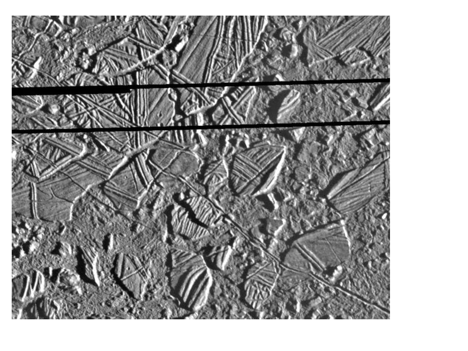 Conamara Chaos Region Wellige Plateaus, die in Klippen von über 100m enden Chaos Regionen : entstehen durch lokale Wärmequellen oder Aktivität unter der Oberfl äche Auflösung: 9m pro Bildpunkt