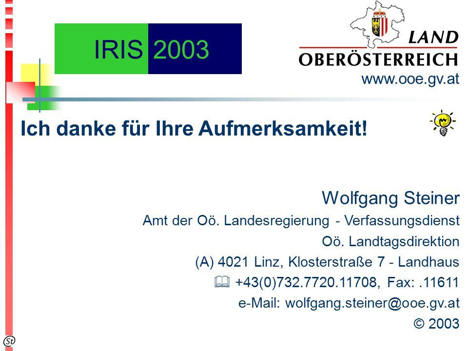 Wolfgang Steiner Amt der Oö. Landesregierung - Verfassungsdienst Oö.