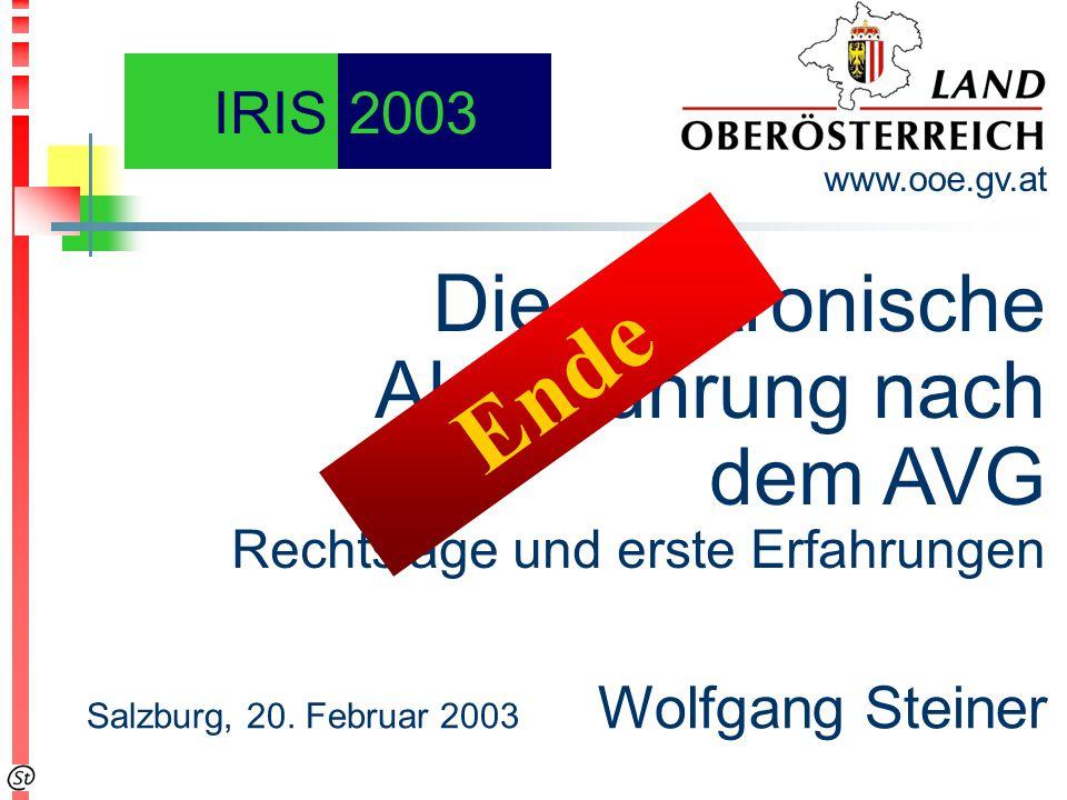Die elektronische Aktenführung nach dem AVG Rechtslage und erste Erfahrungen www.ooe.gv.at Salzburg, 20.