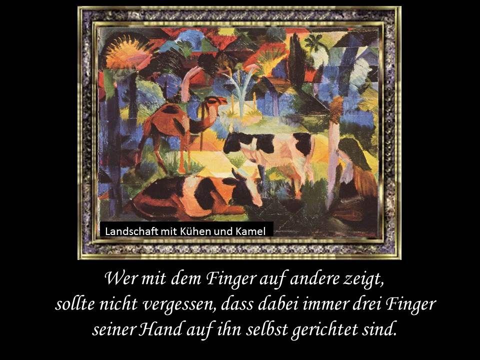 Wer mit dem Finger auf andere zeigt, sollte nicht vergessen, dass dabei immer drei Finger seiner Hand auf ihn selbst gerichtet sind.