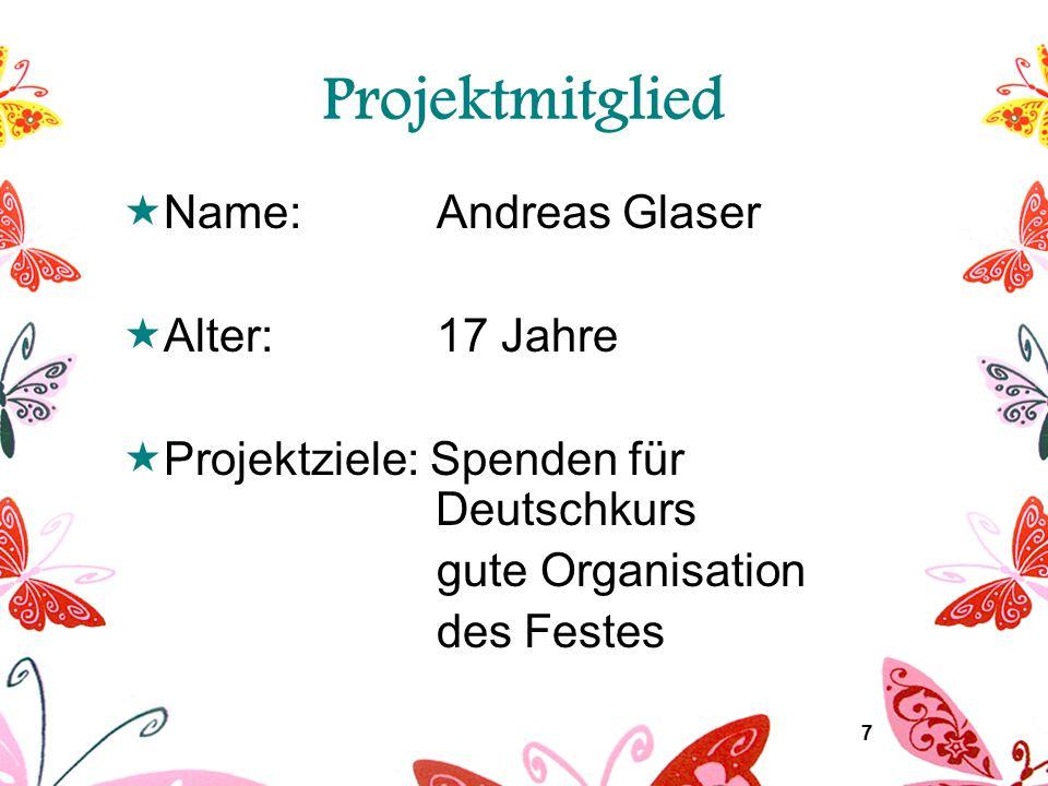 8 Projektidee (1)  Anfrage um Ideen beim Jugendtreff  Besprechung mit Alice Grubich  Entschluss zur Organisation des Interkulturellen Festes  Beratung im Magistrat Krems