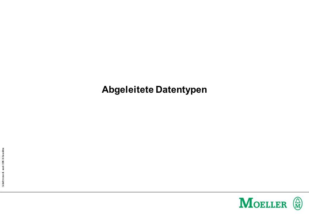 Schutzvermerk nach DIN 34 beachten Abgeleitete Datentypen
