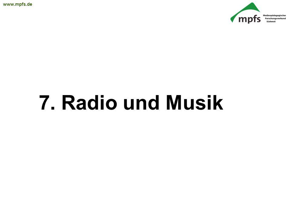 7. Radio und Musik