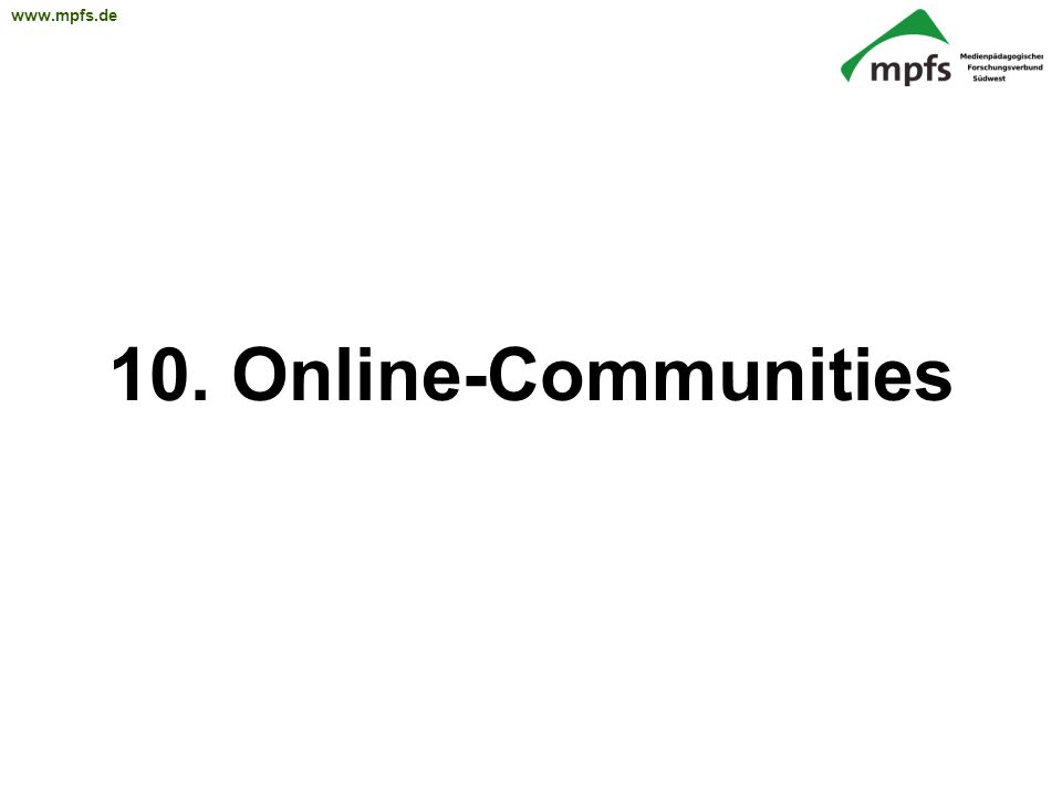 10. Online-Communities