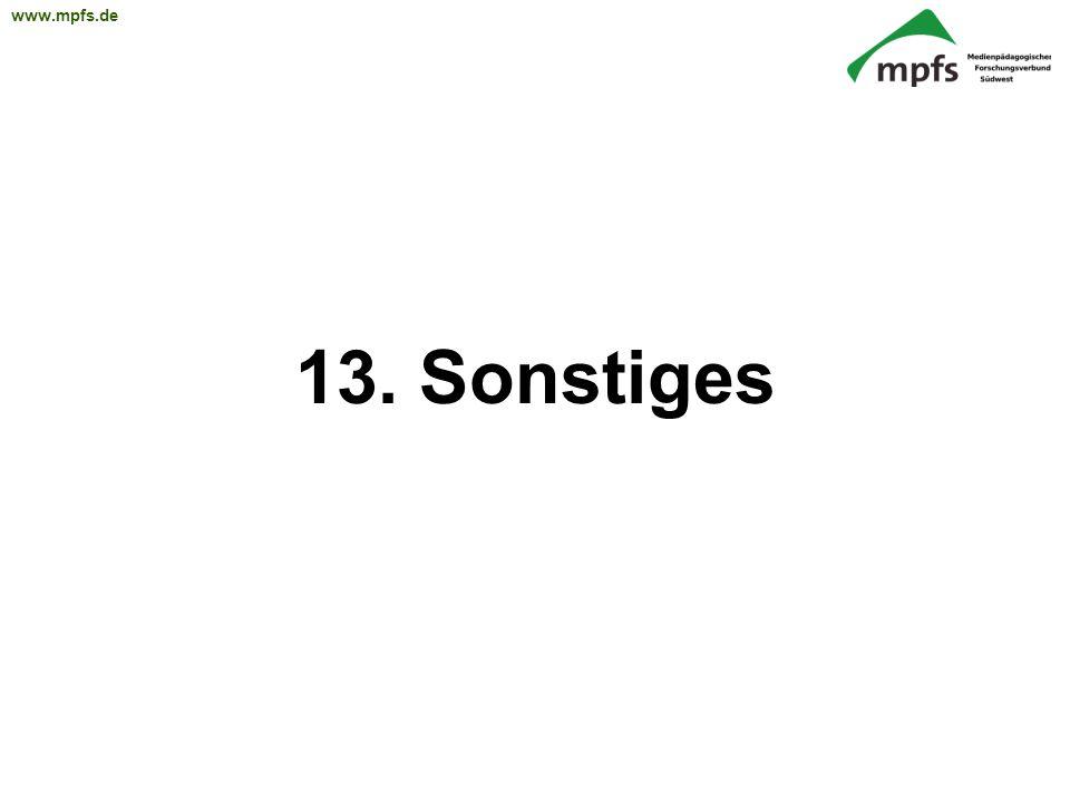 13. Sonstiges