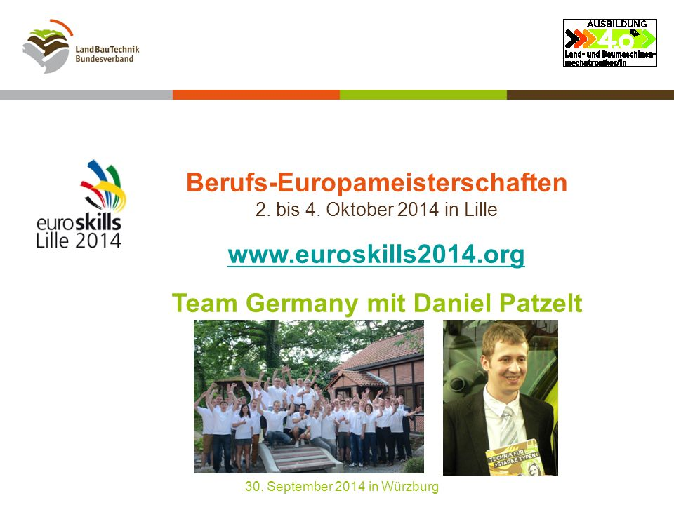 Berufs-Europameisterschaften 2. bis 4.