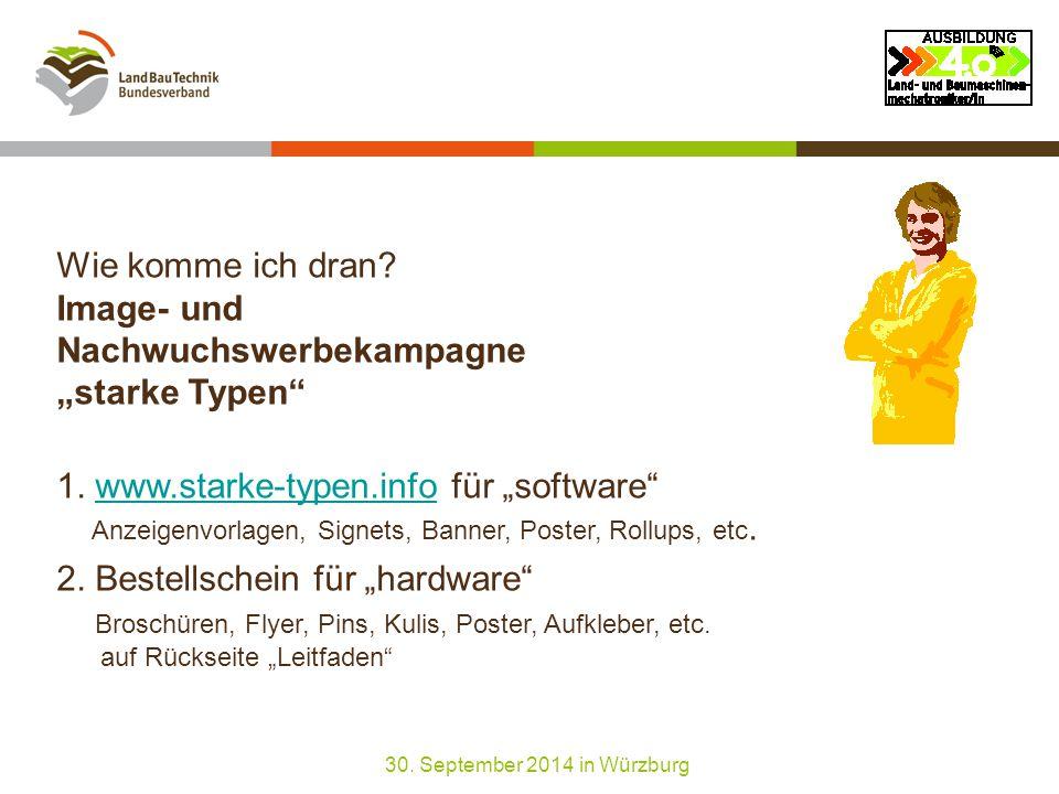 """Wie komme ich dran. Image- und Nachwuchswerbekampagne """"starke Typen 1."""