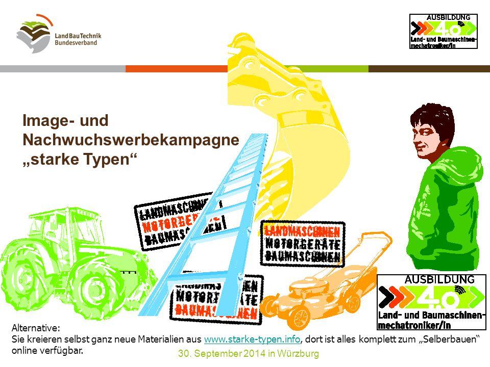 """Image- und Nachwuchswerbekampagne """"starke Typen 30."""
