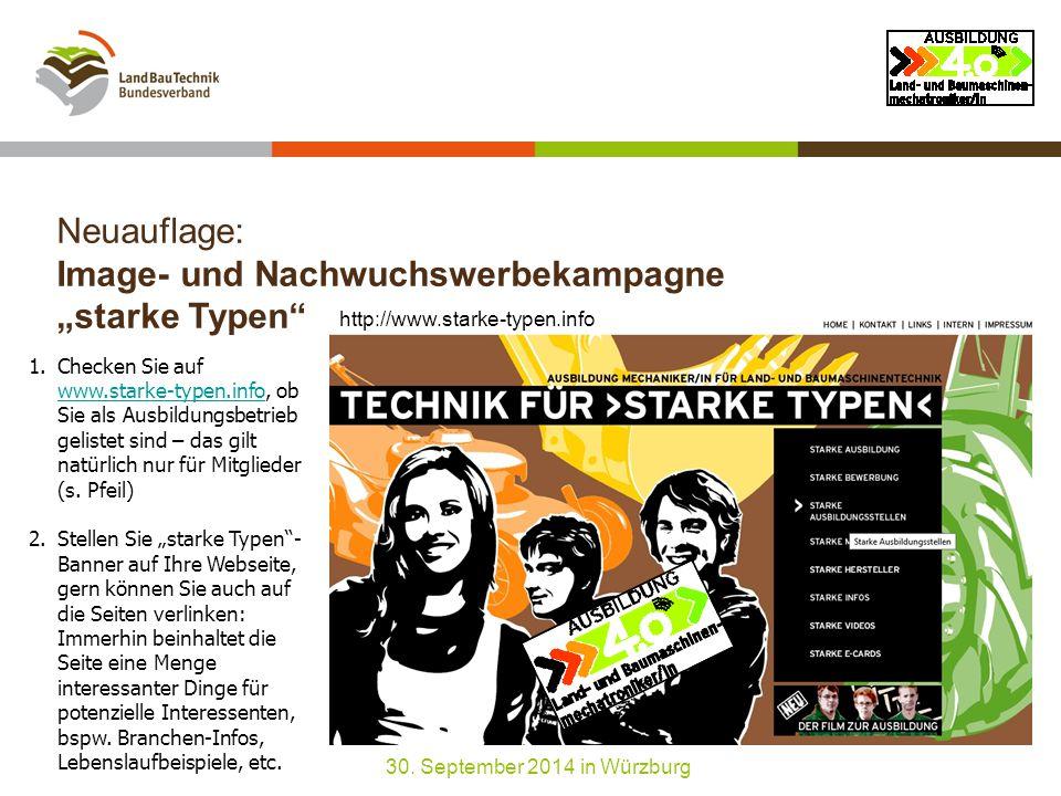 """Neuauflage: Image- und Nachwuchswerbekampagne """"starke Typen 30."""