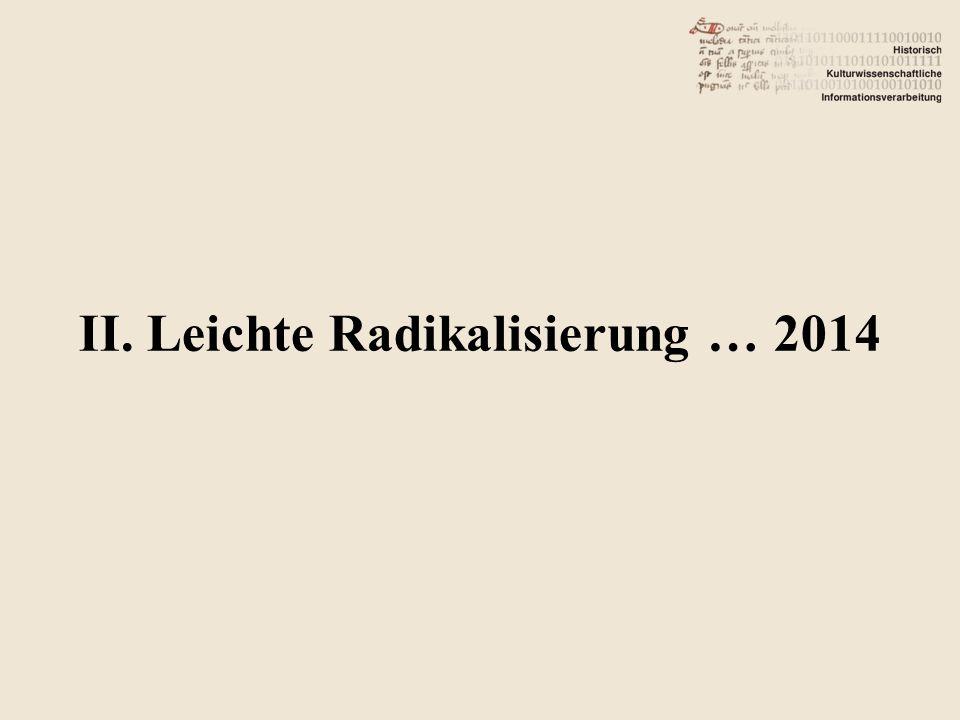 II. Leichte Radikalisierung … 2014