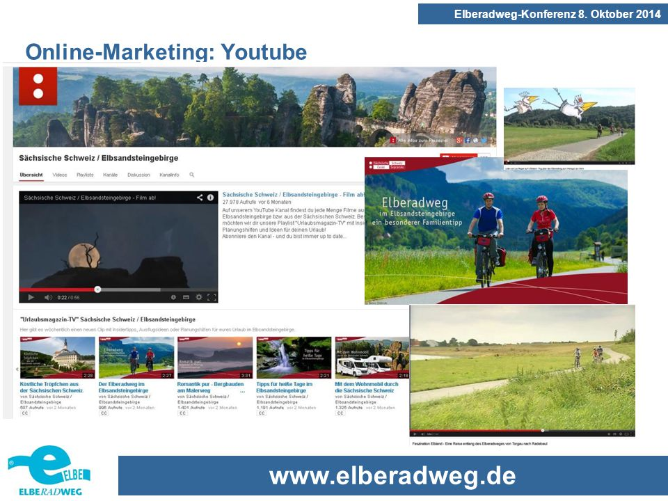 www.elberadweg.de Elberadweg-Konferenz 8. Oktober 2014 Online-Marketing: Youtube