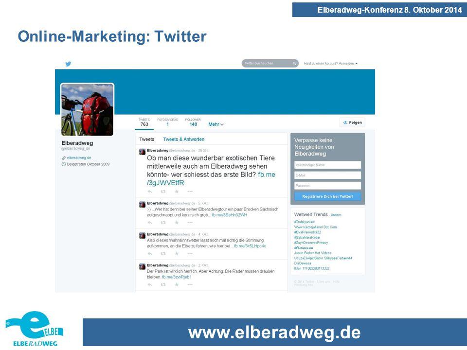 www.elberadweg.de Elberadweg-Konferenz 8. Oktober 2014 Online-Marketing: Twitter