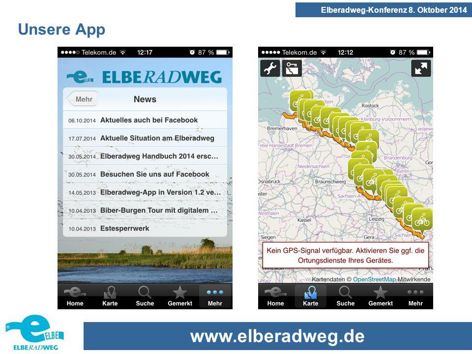 www.elberadweg.de Elberadweg-Konferenz 8. Oktober 2014 Unsere App
